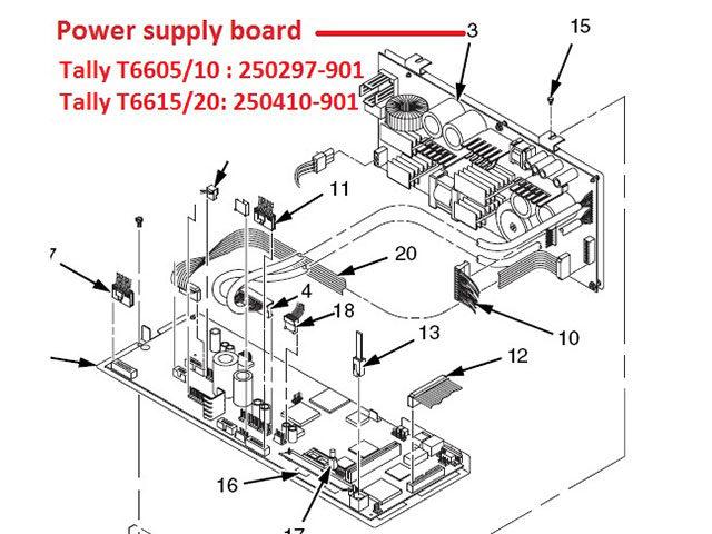 Board nguồn máy in Tally T6600